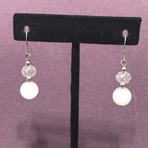 Faux pearl and crystal earrings. 2/$10 Sale
